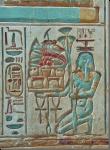 Reliëf en creux, afbeelding in de tempel van Ramses II te Abydos. Foto Lida de Jong